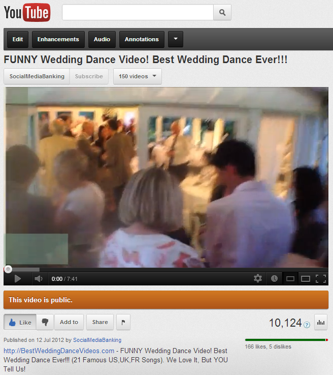 Image of: Hilarious Best Wedding Dance Ever Funny Wedding Dance Reaches 10000 Views On Youtube Medium Blog Kcs Funny Wedding Dance Video The Best Of Youtube